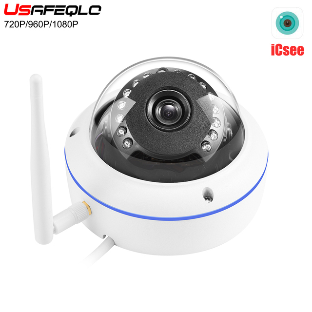 iCSEE APP Vandal-proof IP Camera WiFi With SD Card Slot Max 128Gb ONVIF P2P Motion Detect Alert Dome Security Camera IP 1080P