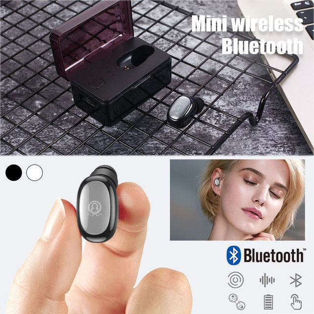 Mini Hands-Free Headphones with Charging Box 2.4GHz Wireless Earbuds Wireless Bluetooth V4.1 Headset Headset for TWS
