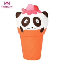 12cm Cute Squishy Cartoon Panda Ice Cream Simulation Kid Toy Decoration Gifts Soft Squeeze Stretchy Healing Stress Toys