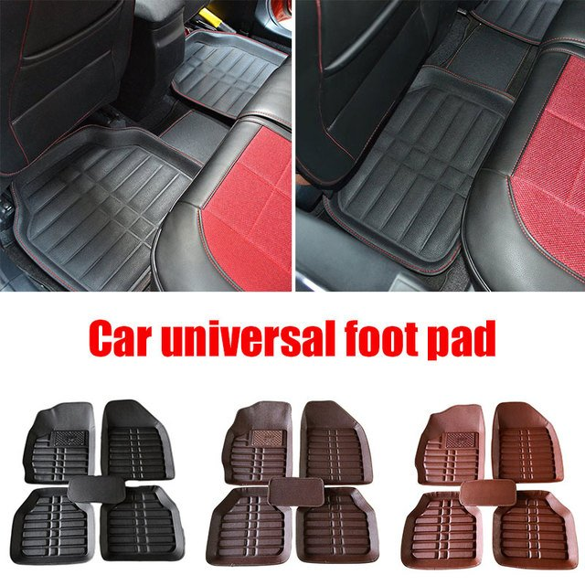 Driver Floor Mat Vehicles FloorLiner Front and Rear Premium Four Seasons Driving Trucks Left Driving 5pcs Leather Accessories