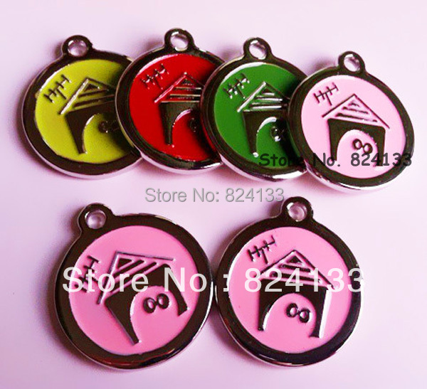 1000pcs/lot mix colors zinc alloy id name tags, dog pet tags for dog products,free shipping