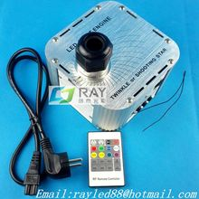 New! 27w,rgb shooting or twinkle star,20key RF remote,led plastic optic fiber engine/machine