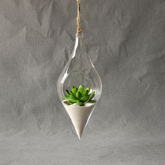 Hanging Glass Vase Hanging Terrarium Creative Plant Flower Clear Container Indoor Vase Home Decoration Party Wedding Decor