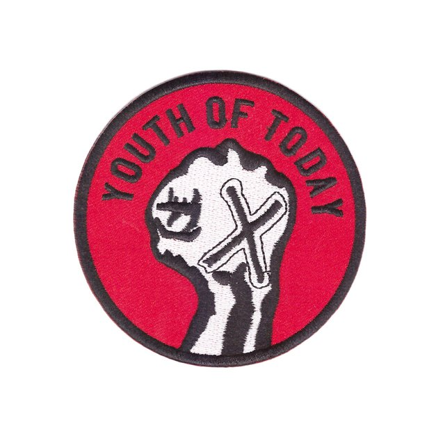 Youth of Today American hardcore punk band straight edge embroidered iron-on patch X hand sxe Denim patch