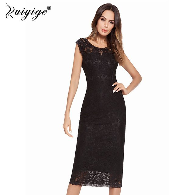 Ruiyige Women Lace Up Sexy Summer Dress Hollow Out Backless Sheath Fitted Tank Party Dress Work Casual Elegant Evening Vestidos