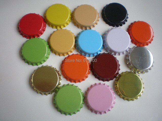 New Arrival 4000 pcs/lot Tinplate Bottle Caps for  jewelry  Bottlecaps Crown Cap Beer Cap Many Colors can be choose