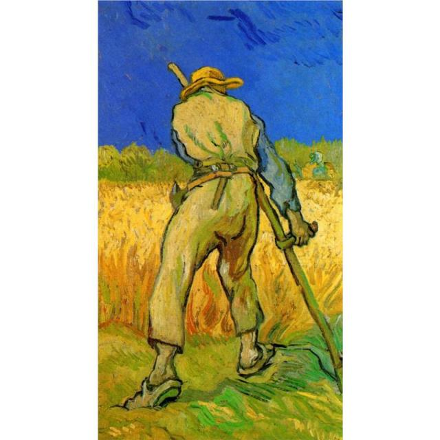 Handmade oil painting reproduction of Vincent Van Gogh High quality The Reaper after Millet Living room decor