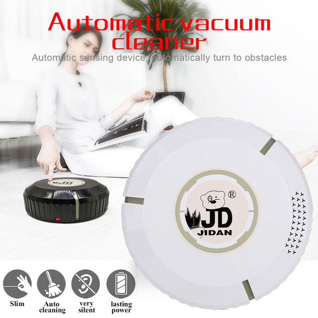 2019 Drop Shpping Rechargeable Auto Cleaning Robot Smart Vacuum Cleaner Convenient Household Auto Sweeping Robot for Mopping