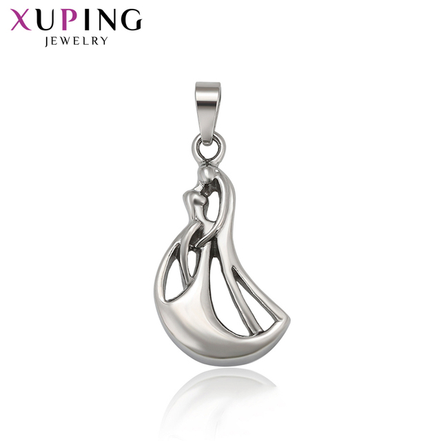 Xuping Fashion Rhodium Color Plated Pendant with Stainless Steel Jewelry Bohemia Style Valentine's Day Gift 126.10-34649