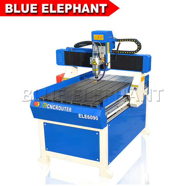 CNC Router 6090 3 axis 1.5 KW Water Cooling Spindle CNC Drilling Machine, Mach3 DSP Control System CNC Engraving Cutting