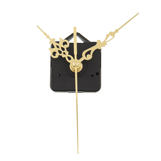 Quality Clock Movement Mechanism Parts Repair Tool Set with Gold Hands Quiet #2