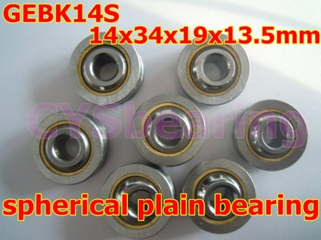 GEBK14S PB-14 radial spherical plain bearing with self-lubrication for 14mm shaft