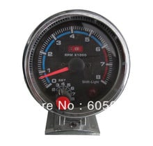 Free shipping 3.75 inch 3 colors face LED light tachometer gauge RPM car auto meter LED gauge led7781