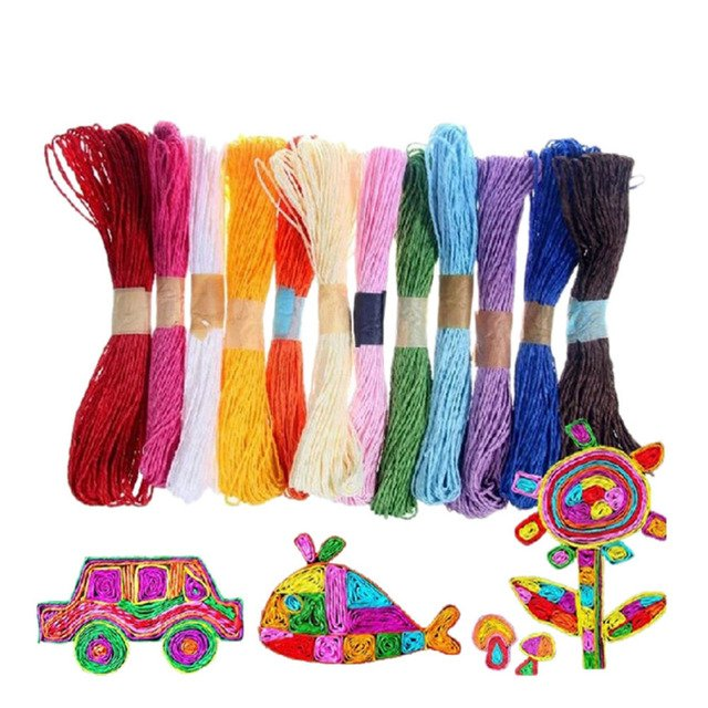 DIY  Wrapping Twine Rope Twisted Paper Raffia Craft Favor Gift Thread Scrapbooks Invitation Flower Decoration 10 Colors 10M 2mm