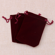 EMS Free Shipping !2000pcs New 7*9cm Jewellery Packaging Velvet Pouches Red With Drawstrings Christmas/Wedding Gift bags
