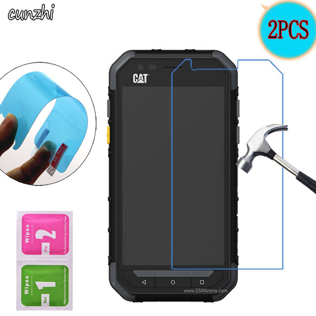 2PCS  Soft Ultra Clear Nano-coated Tempered Explosion proof Screen Protector Film For Cat S30