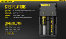 NEW NITECORE Intellicharger i2 Charger for 18650 26650 16340 10440 14500 Battery Charging i2 Charger