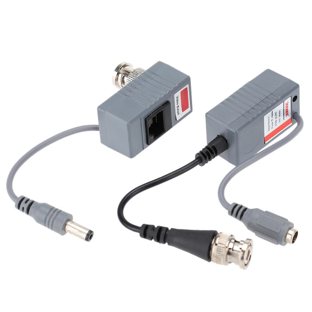 ABS Plastic CCTV Camera Video Balun Transceiver BNC UTP RJ45 Video and Power over CAT5/5E/6 Cable