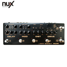 NUX Cerberus Multi Function Guitar Effects Pedal Processor Integrated Analog Overdrive Distortion Modulation and Delay Modules