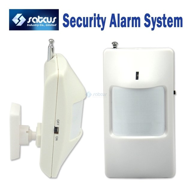 Wireless PIR Sensor/Motion Detector For Wireless GSM/PSTN Auto Dial Home Security Alarm System Without 9V Battery
