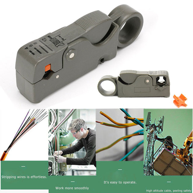 Practical Crimping Pliers ABS Grey Wire Crimping Tools Cable Pliers Clip Plier Tool Multi Function Tool Coaxial Cable