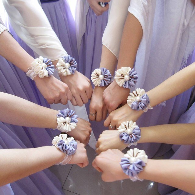 Jorya two-color hand  purple wrist length  corsage  flower corsages for prom