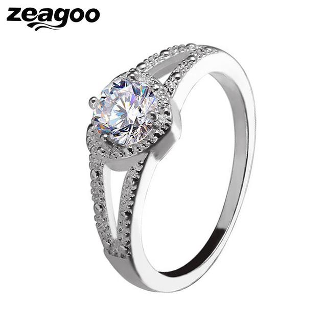 Women Ring Charm Wedding New Artificial Jewelry Casual Diamond Fashion