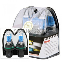 2 9007 HB5 6000K Xenon Halogen Headlight Head Light Lamp Bulbs 100W