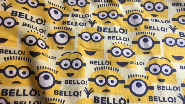 Cotton lovely minions DIY Children Clothing Thin terry cotton fabric width 160cm