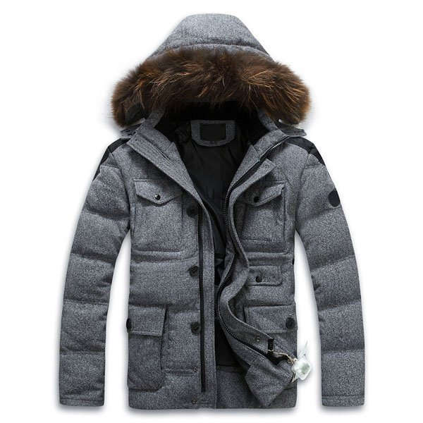 Fashion Hot Sale Mens Detachable Hooded Duck Down Coat,Real Fur Collar Down Jacket Men's Outerwear Parka Warm For Winter HY230