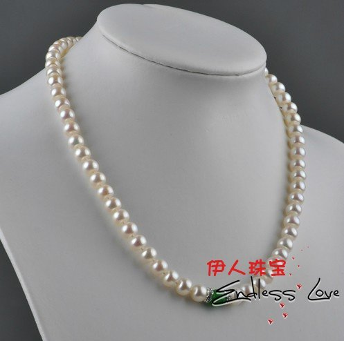 Pearl Necklace+Green Lucky  Necklace, wedding/bridal/female/women's/girls'/lady's Jewellery Accessory+Free Shipping