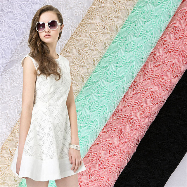 DoreenBeads 2018 European Fashion Spring Summer Polyester Lace Fabric Grape Pattern For Women Party Dress Fabric 100*145cm,1PC
