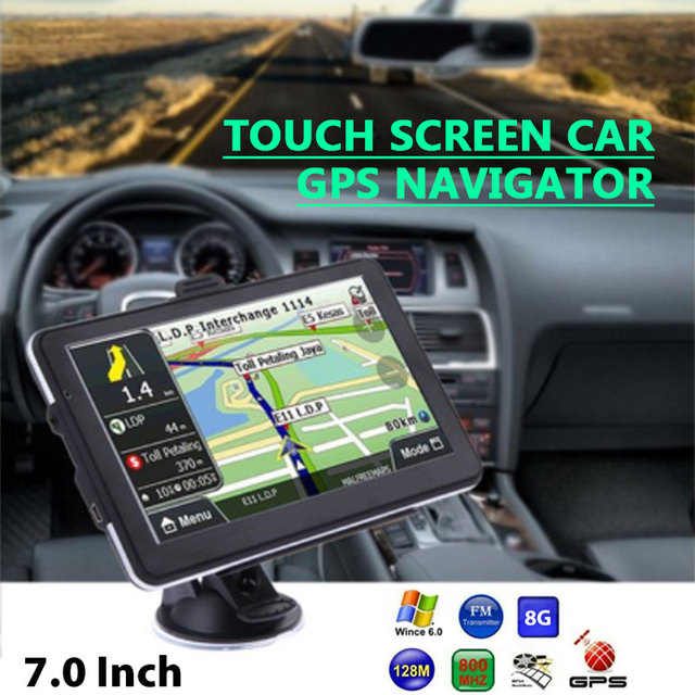 "Car GPS Navigation Game Player Audio Automobile Premium TFT LCD Video E-Book 7"" 8GB Capacitive Touch 800MHZ FM Radio"