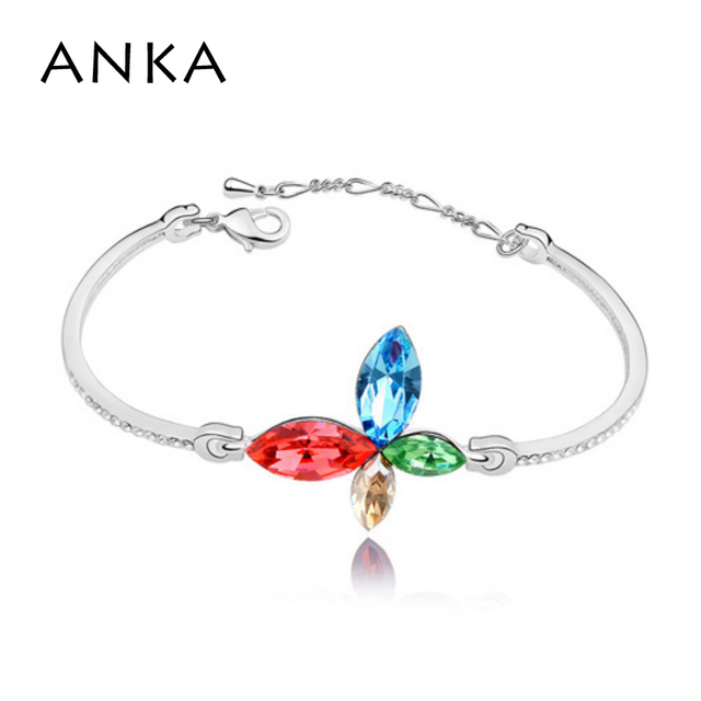 ANKA New Bracelets For Women Crystals from Austrian High Quality Austria Butterfly rhodium Plated Bangle Bracelet #86468