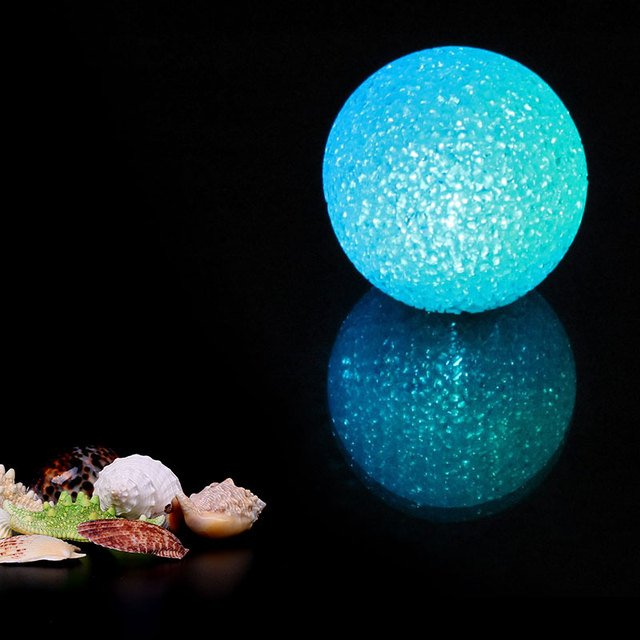 LED Crystal Ball 8CM Night Lamp Decoration Plastic Ball Base Lamp Children Gift