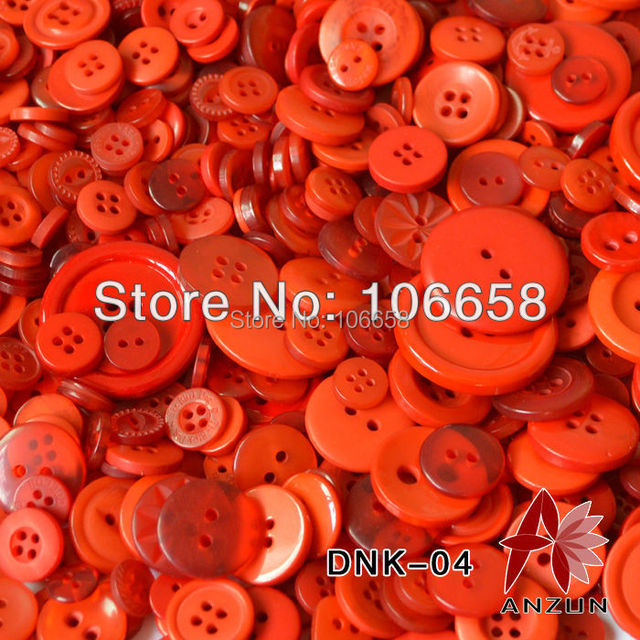 100g Mixed Button Approx 220pcs Scrapbooking Buttons Picture Materials Fashion Fastener for Craft And DIY Button Red