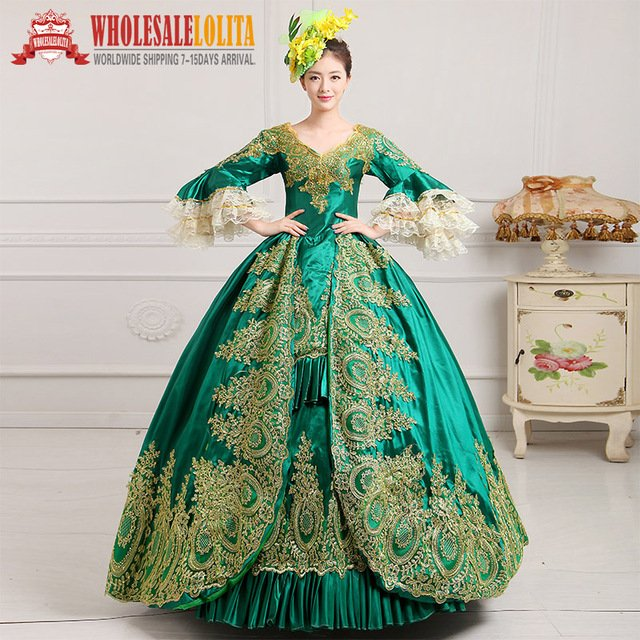 Victorian Gothic  Period Dress Ball Gown 18th Century Court Dress  / Ladies' Victorian Dresses /Southern Belle Ball Gown