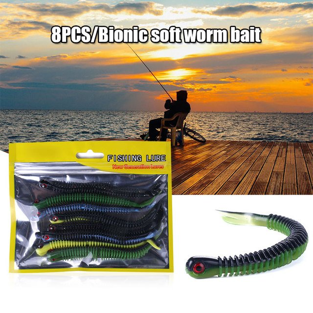 Plastic Spiral Bionic Bait Fishing Bait Fishing Accessories Fake Bait Spiral Fishing Lure Durable Artificial Lure Outdoor Sport