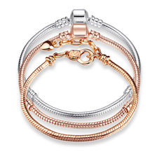 ANNAPAER Snake Charm Bracelets For Women Superyne Gift Accessories for Beads Jewelry Party Gifts Fit Pandora Bracelet 17CM-21CM