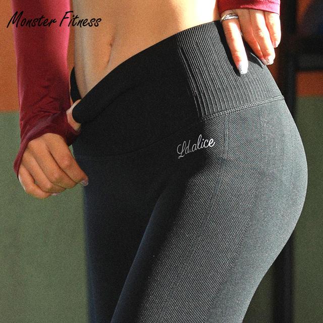Monster 2018 Yoga Pants Thick Sport Leggings High Waist Push Up Gym Running Workout Fitness Yoga Leggings For Women
