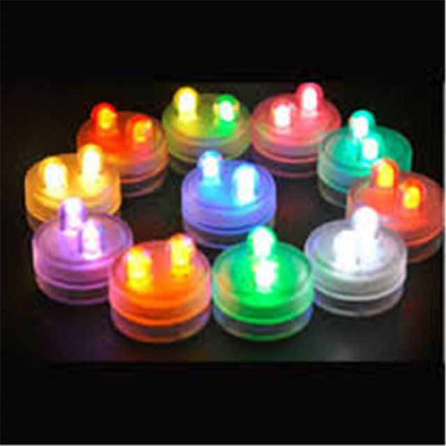 24pcs 3CM Christmas Lights with 2 LEDs Inside Decorative Lights 2pcs CR2032 Batteries Installed Submersible Lights