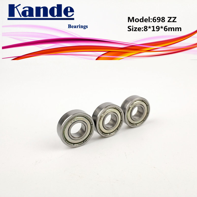 Kande Bearings 698ZZ 10pcs ABEC-1 698 ZZ ABEC-3 698ZZ 10pcs ABEC-5 698-2Z Miniature Deep Groove Ball Bearing 8x19x6mm 698