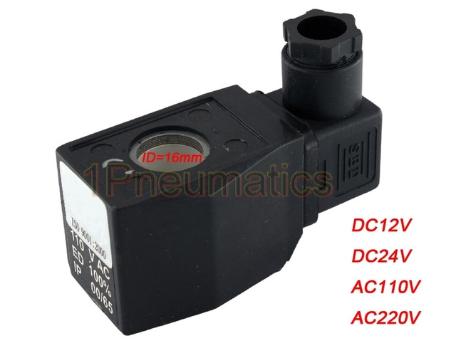 """Free Shipping 10PCS/Lot Solenoid Valve AB410A Electric Coil 12-220V AC/DC DIN43650A Connector For 3/8"""" 1/2"""" 3/4"""" 1"""" Closed/Open"""