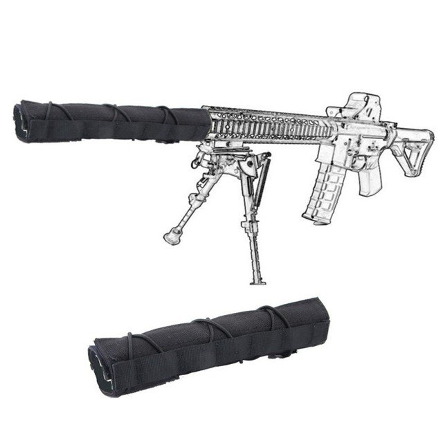 New Military Tactical Accessory Suppressor Case Mirage Heat Cover Fabric 14 22cm Airsoft Suppressor Cover Quick Release