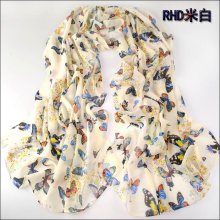 new fashion style butterfly Scarves women's scarf long shawl spring silk pashmina chiffon infinity scarf (SC036)