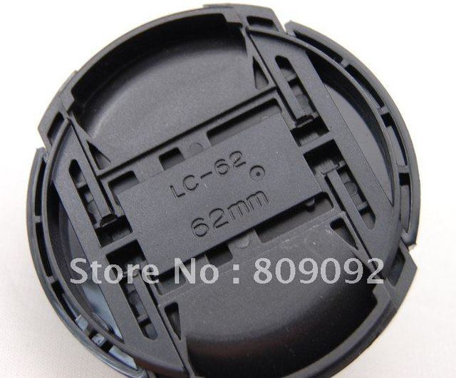 62mm Durable Plastic Snap-On Front Lens Cover Cap for Nikon Camera