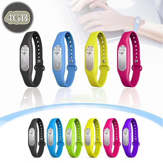 2020 Fashion Wearable Wristband Voice Recorder USB Pen 4GB Digital Audio Voice Recorder 20 hours Recording Free Shipping!