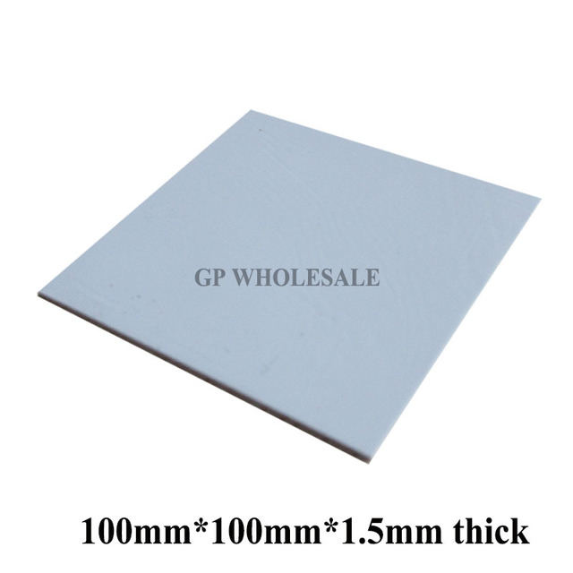 100mm*100mm*1.5mm Soft Silicone Thermal Pad /Thermal Pads /Heat Conductive for Heatsink Laptop /IC /Chipset /Chip / VGA GPU Gap