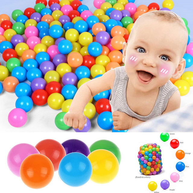100 pcs Colorful Ocean Ball Water Pool Toys Baby Kids gift Swim Pit  Water Ocean Wave Ball Eco-Friendly Colorful Soft Ball Funny