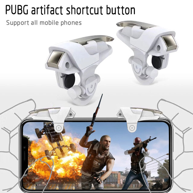 Cewaal 1pair Controller Gaming Trigger Game Accessories Game Shoot Triggers Mini Smartphone Game Shoot Button Fire Aim Key